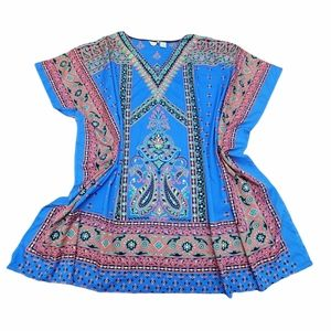 Sante Blue Boho Tunic One Size
